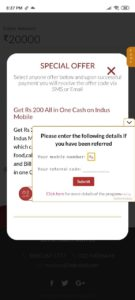 IndusInd Referral Code