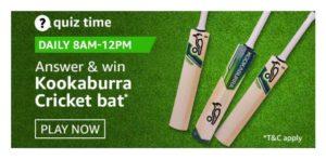 Amazon Kookaburra cricket bat Quiz Answers
