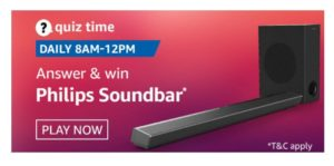 [Daily] Amazon Quiz Today- Answers Of Philips Soundbar Quiz