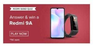 Amazon Redmi Band Quiz Answers