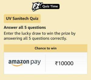 Amazon UV Sanitech Quiz Answers