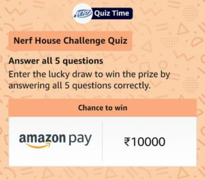 Amazon Nerf Quiz Answers