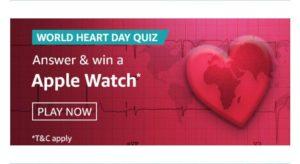 AmazonWorld Heart Day Quiz Answers