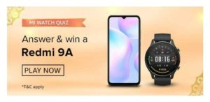Amazon Mi Watch Quiz Answers