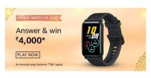 Amazon Honor Watch ES Quiz Answer