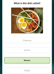 Amazon World Food Day Quiz Answers
