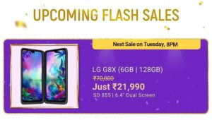 LG G8X Next Flash Sale Time & Date