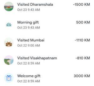 Earn KM Kilometer In Go India