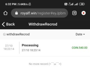 Royal Win Refer Earn Free PayTM Cash