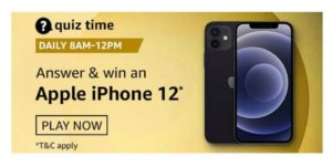 Amazon Apple iPhone 12 Quiz Answers