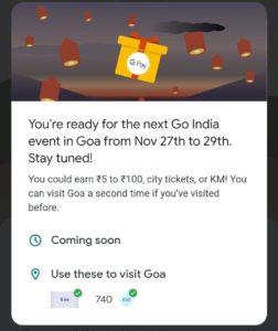 Go India Game 'Goa' Event