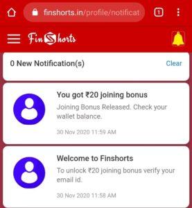 Finshorts Refer Earn Free PayTM Cash