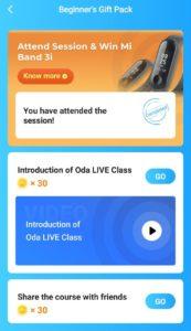 Oda Classes Refer Earn Mi Band