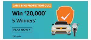 Amazon Car & Bike Protection Quiz Answers