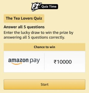 Amazon Tea Lover's Quiz Answers