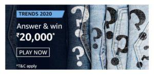 Amazon Trends 2020 Quiz Answers