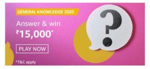 Amazon General Knowledge 2020 Quiz Answers