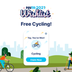 """[Giveaway] PayTM Wishlist 2021 """"Cycling"""" Card For FREE 