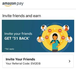 Amazon Pay UPI Referral Offer