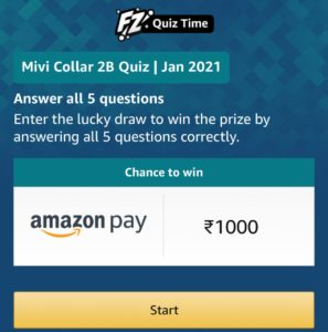 Amazon Mivi Collar 2B Quiz Answers
