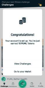 PUML Fitness App Refer Earn Tokens