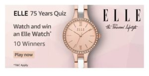 Amazon Elle 75 Years Quiz Answers