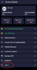 Admiral Option App Refer Earn Free TRX
