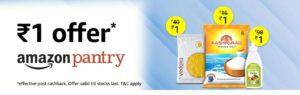 Amazon Pantry ₹1 Deals