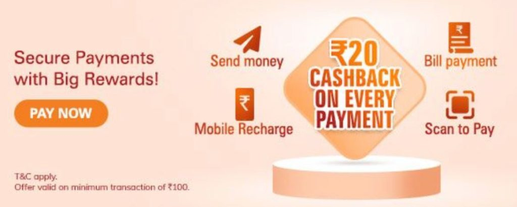 ICICI Bank iMobile Pay Cashback Offer