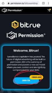 BitTrue Permission Ask Token Air Drop