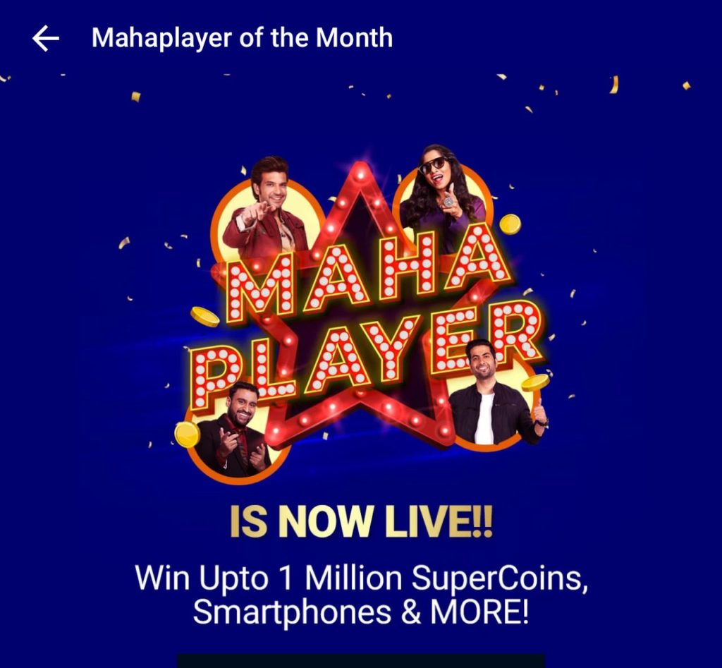 Flipkart MahaPlayer - Play Daily 3 Games & Get Upto 1 Lakh Supercoins/Oppo Phone
