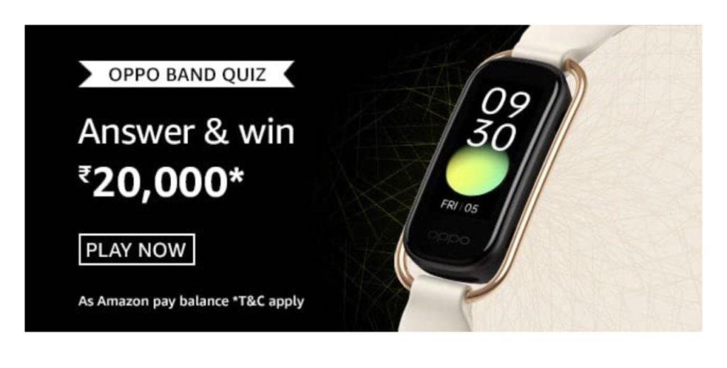 Amazon Funzone Oppo Band Quiz Answers