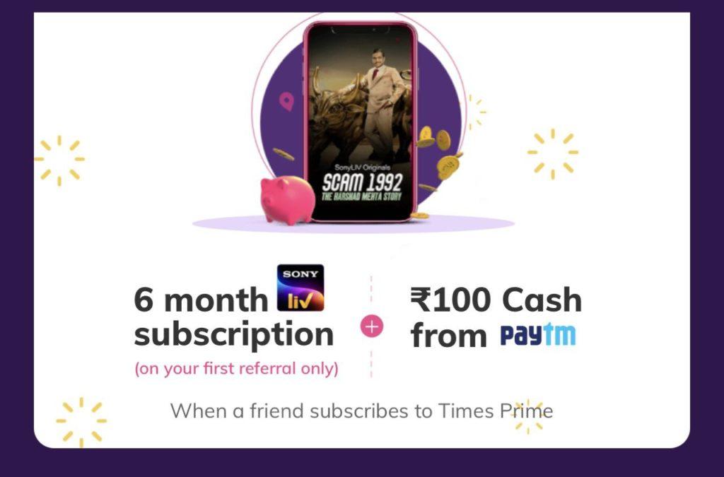 TimesPrime SonyLIV Premium Offer