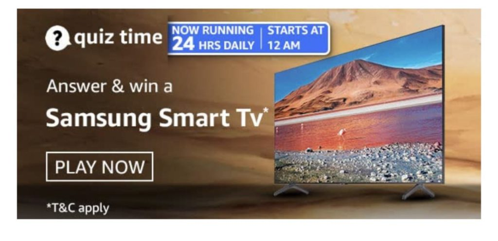 Amazon Samsung Smart TV Quiz Answers