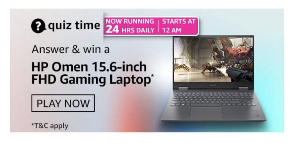 Amazon HP Omen Gaming Laptop Quiz Answers