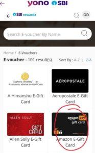 YONO SBI Free Amazon Voucher