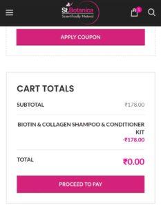 Free Sample St Botanica Biotin Collagen Hair Shampoo Conditioner