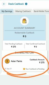 Asian Paint TalkCharge Cashback Offer