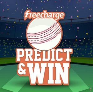 Predict Win ₹1000 FreeCharge Cashback