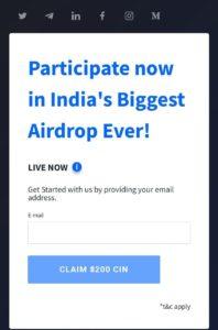 Coinsbit CIN Airdop