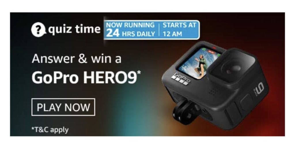 Amazon GoPro Hero9 Quiz Answers