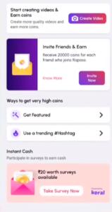 Roposo App Referral Code