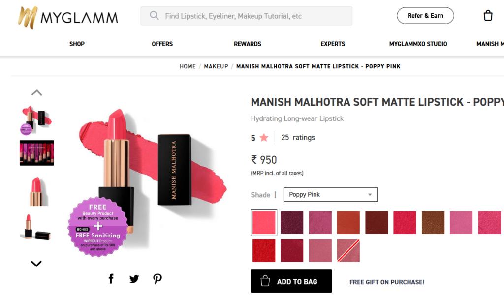 MyGlamm Referral Code Shopping Loot
