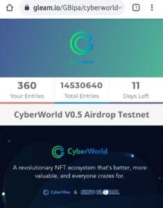 CyberWorld AirDrop Refer Earn
