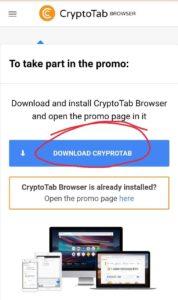 CryptoTab Browser Pro Refer Earn
