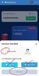 Biswap exchange token earn
