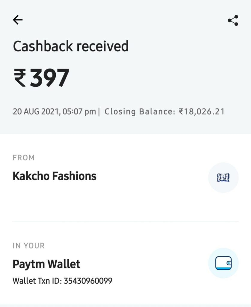 Fiva App Payment Proof