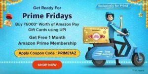 Amazon Prime membership for Free