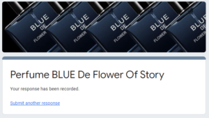 Free Sample BLUE De Flower Story Perfume