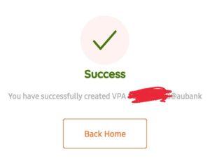 AU0101 App UPI Offer